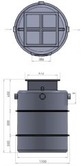 JTG PRO45 GREASE and SILT TRAP - 800 LITRES CAPACITY (FOR UP TO 1500 MEALS PER DAY)